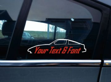 2x Custom YOUR TEXT car sticker - for Nissan 300zx 1st gen, Z31
